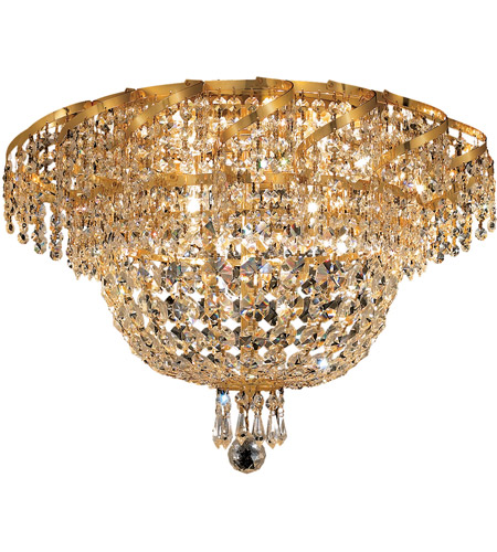 Elegant Lighting Belenus 8 Light Flush Mount in Gold with Spectra Swarovski Clear Crystal ECA2F20G/SA photo