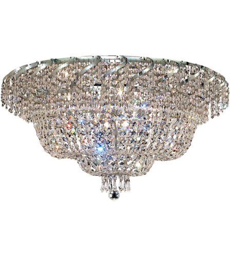Elegant Lighting Belenus 12 Light Flush Mount in Chrome with Royal Cut Clear Crystal ECA2F30C/RC photo