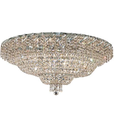 Elegant Lighting ECA2F36C/SS Belenus 20 Light 36 inch Chrome Flush Mount Ceiling Light in Swarovski Strass photo