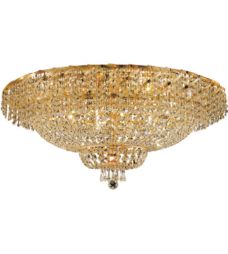 Elegant Lighting ECA2F36G/SA Belenus 20 Light 36 inch Gold Flush Mount Ceiling Light in Spectra Swarovski photo