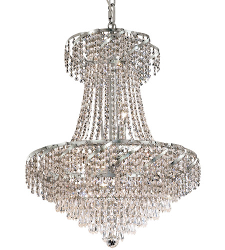 Elegant Lighting Belenus 11 Light Dining Chandelier in Chrome with Royal Cut Clear Crystal ECA4D22C/RC photo