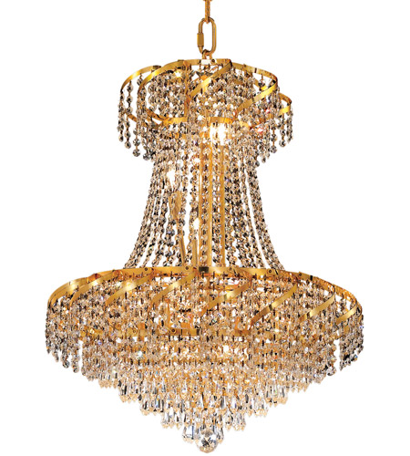 Elegant Lighting Belenus 11 Light Dining Chandelier in Gold with Spectra Swarovski Clear Crystal ECA4D22G/SA photo