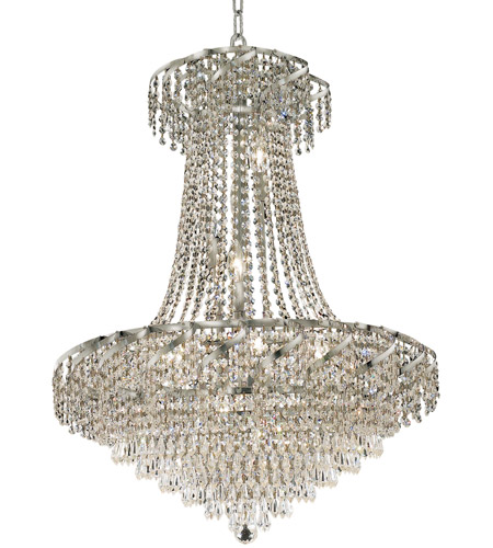 Elegant Lighting ECA4D26C/EC Belenus 15 Light 26 inch Chrome Dining Chandelier Ceiling Light in Elegant Cut photo
