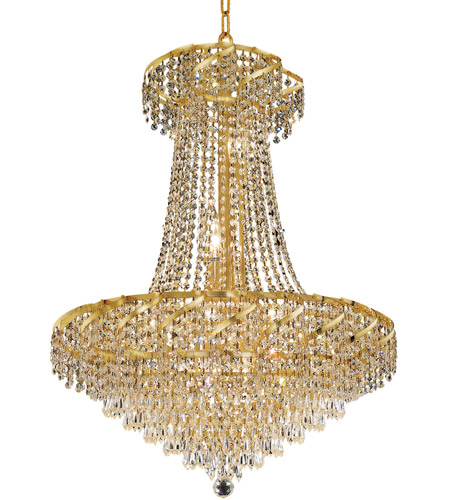 Elegant Lighting Belenus 15 Light Dining Chandelier in Gold with Royal Cut Clear Crystal ECA4D26G/RC photo