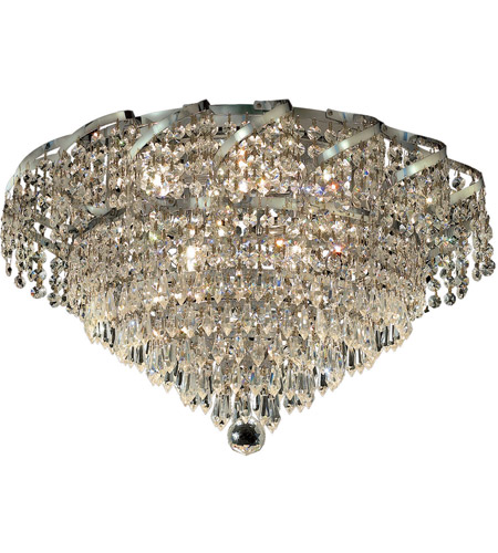 Elegant Lighting Belenus 6 Light Flush Mount in Chrome with Elegant Cut Clear Crystal ECA4F16C/EC photo
