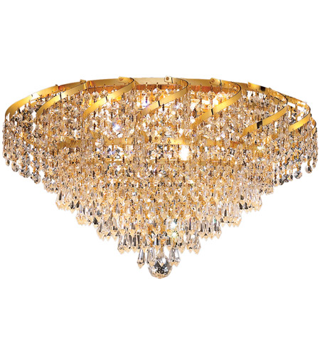 Elegant Lighting Belenus 8 Light Flush Mount in Gold with Royal Cut Clear Crystal ECA4F20G/RC photo
