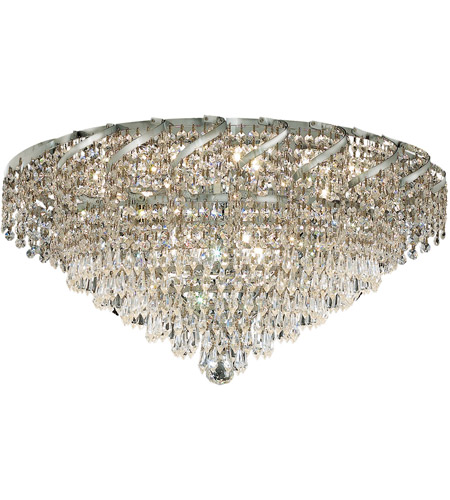 Elegant Lighting ECA4F26C/SS Belenus 10 Light 26 inch Chrome Flush Mount Ceiling Light in Swarovski Strass photo
