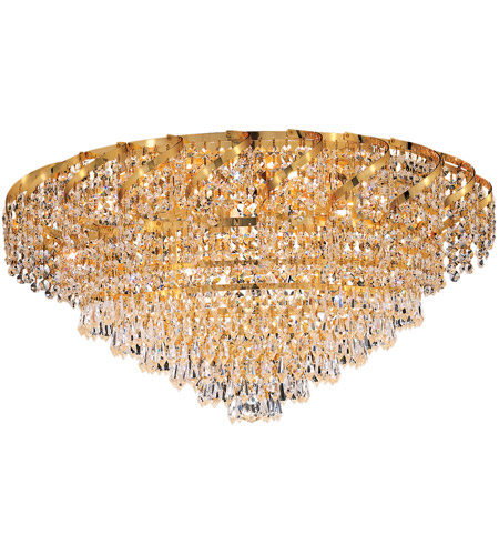 Elegant Lighting ECA4F26G/EC Belenus 10 Light 26 inch Gold Flush Mount Ceiling Light in Elegant Cut photo