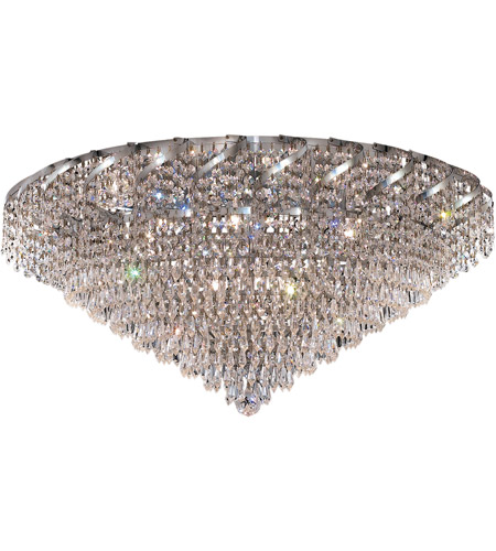 Elegant Lighting Belenus 12 Light Flush Mount in Chrome with Royal Cut Clear Crystal ECA4F30C/RC photo