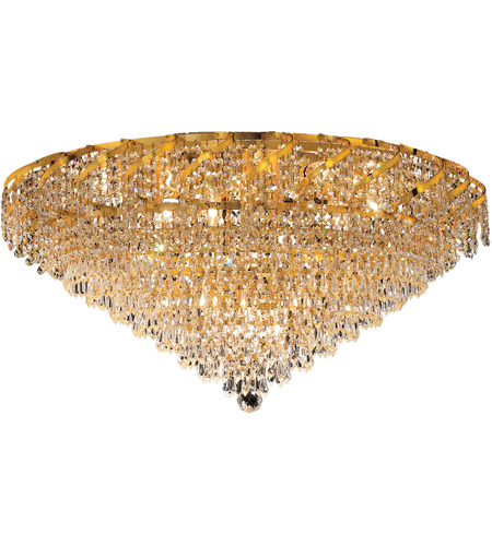 Elegant Lighting Belenus 12 Light Flush Mount in Gold with Royal Cut Clear Crystal ECA4F30G/RC photo