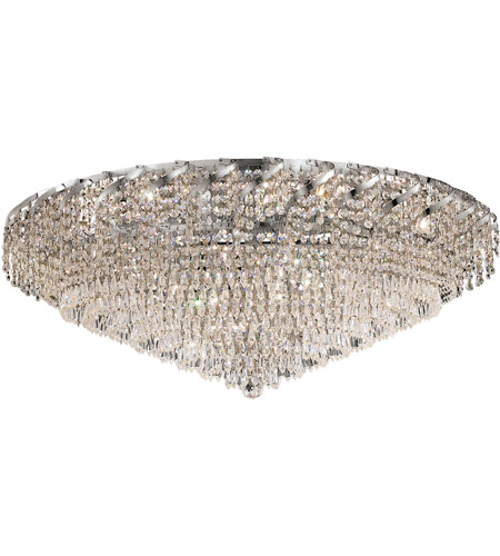 Elegant Lighting Belenus 28 Light Flush Mount in Chrome with Royal Cut Clear Crystal ECA4F36C/RC photo