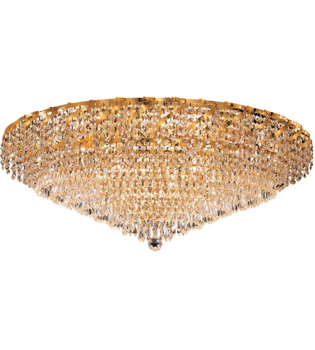 Elegant Lighting ECA4F36G/SA Belenus 20 Light 36 inch Gold Flush Mount Ceiling Light in Spectra Swarovski photo