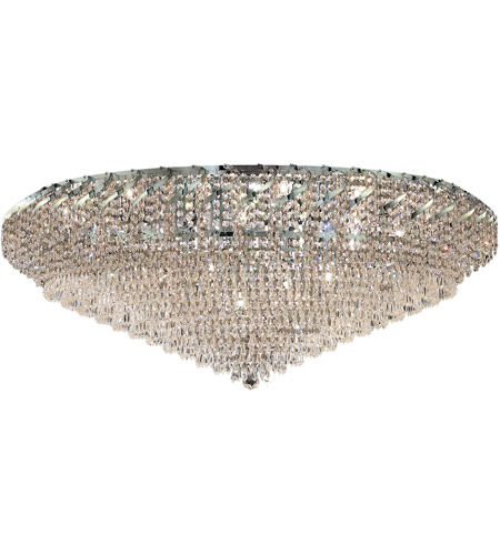 Elegant Lighting ECA4F48C/EC Belenus 36 Light 48 inch Chrome Flush Mount Ceiling Light in Elegant Cut photo
