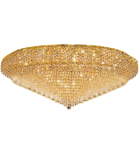Elegant Lighting Belenus 36 Light Flush Mount in Gold with Swarovski Strass Clear Crystal ECA4F48G/SS photo