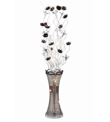 Elegant Lighting South Beach 8 Light Floor Lamp in Coffee FL4005 photo