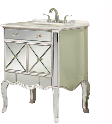 elegant lighting mf3 5106sc camille silver and clear mirror vanity cabinet. Black Bedroom Furniture Sets. Home Design Ideas