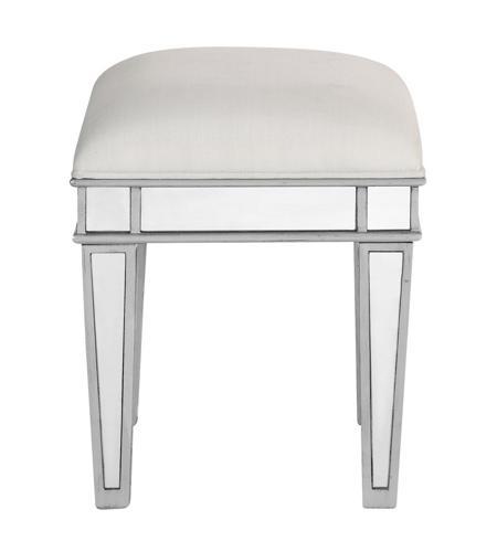 Stupendous Contempo 18 Inch Silver Vanity Stool Clear Mirror Creativecarmelina Interior Chair Design Creativecarmelinacom