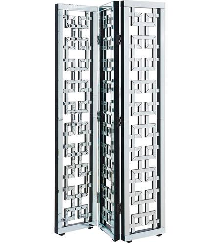 Elegant Lighting MF6-1018 Chamberlan Silver Room Divider, 3-Panel, Clear  Mirror - Elegant Lighting MF6-1018 Chamberlan Silver Room Divider, 3-Panel