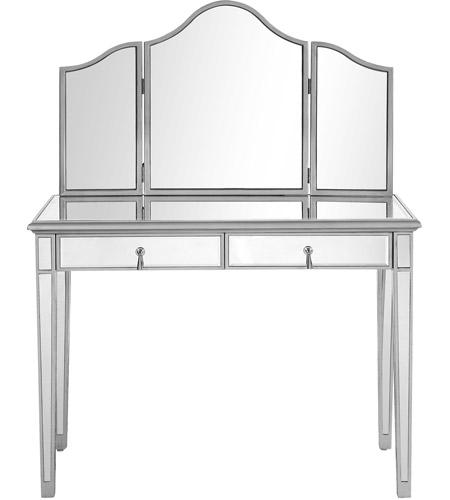 Charming Elegant Lighting MF6 2001S Chamberlan Silver Vanity Table Set, Set Of 2 ( Table