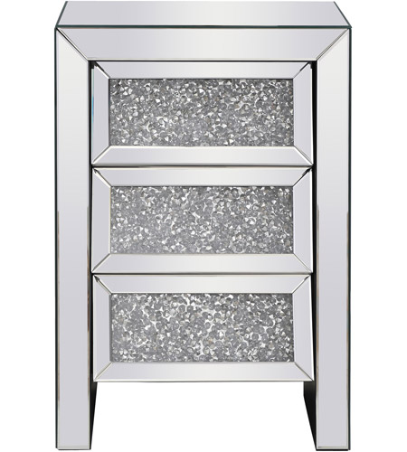 Elegant Lighting MF92014 Modern 26 X 18 inch Clear Mirror Bedside Table photo
