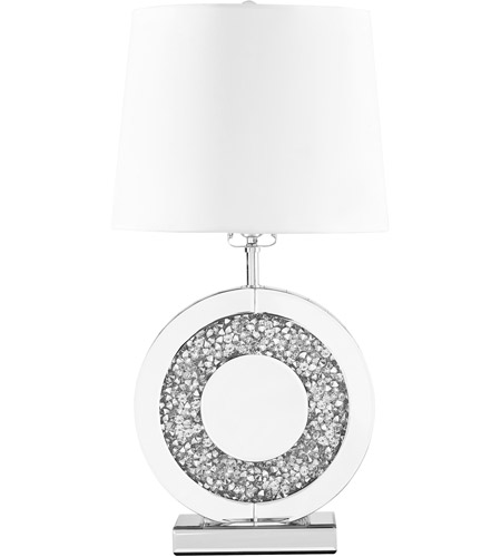 Elegant Lighting Ml9307 Sparkle 26 Inch 60 Watt Silver Table Lamp