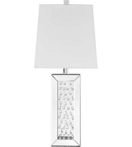 Elegant Lighting Ml9310 Sparkle 28 Inch 60 Watt Silver Table Lamp Portable Light