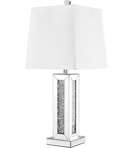 Sparkle 28 Inch 60 Watt Silver Table Lamp Portable Light
