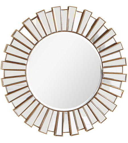 Elegant Lighting Mr 3011g Modern Gold And Clear Mirror Wall Mirror