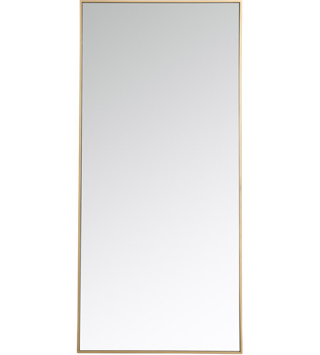 Elegant Lighting MR43060BR Eternity 60 X 30 inch Brass Wall Mirror photo