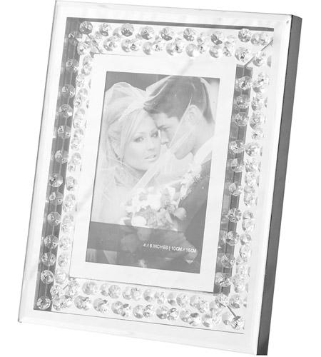 Elegant Lighting MR9104 Sparkle Clear Photo Frame, 4x6