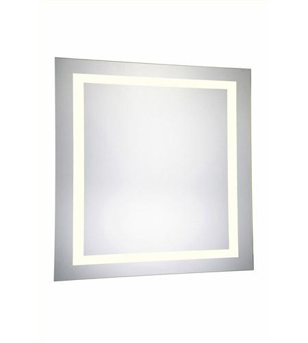 Elegant Lighting Mre 6040 Nova 36 X Inch Glossy White Lighted Wall Mirror In 3000k Square