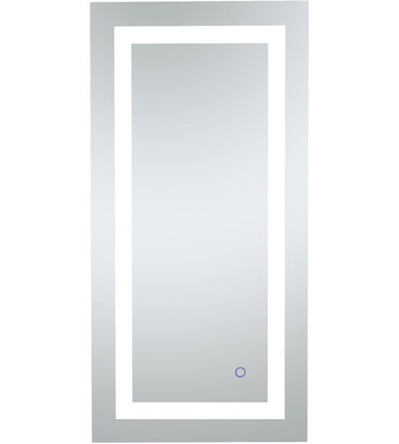 Helios 36 X 18 Inch Silver Lighted Wall