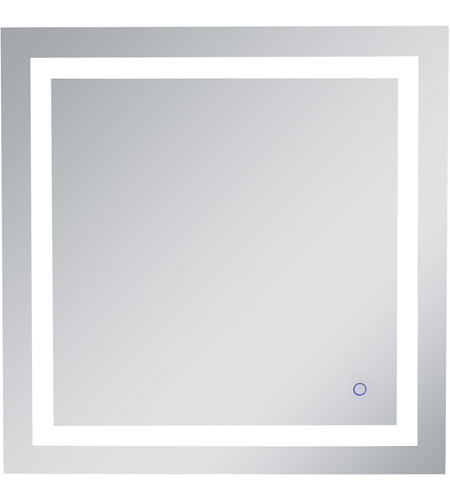 Elegant Lighting Mre13030 Helios 30 X 30 Inch Silver Lighted Wall Mirror