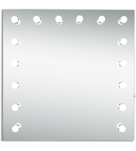 Elegant Lighting Mre8525k Hollywood 36 X Inch Silver Anodized Lighted Wall Mirror