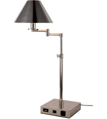 Elegant lighting tl3003 brio 26 inch 40 watt polished nickel table elegant lighting tl3003 brio 26 inch 40 watt polished nickel table lamp portable light with usb port and power outlet aloadofball
