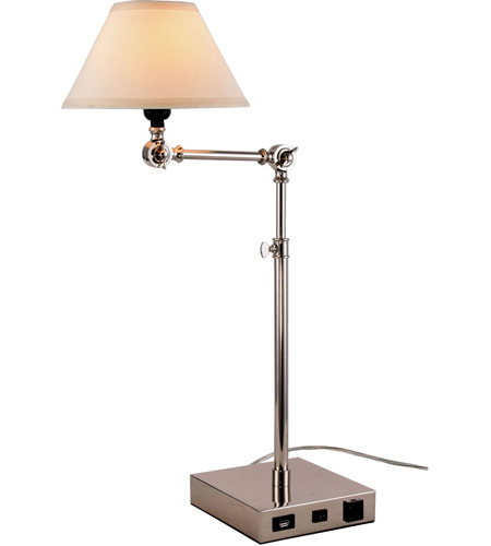 Elegant lighting tl3006 brio 33 inch 40 watt polished nickel table elegant lighting tl3006 brio 33 inch 40 watt polished nickel table lamp portable light with usb port and power outlet aloadofball
