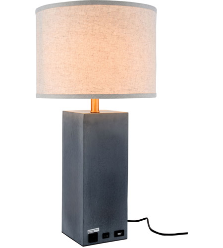 Elegant Lighting TL3008 Brio 27 Inch 40 Watt Concrete Table Lamp Portable  Light Photo