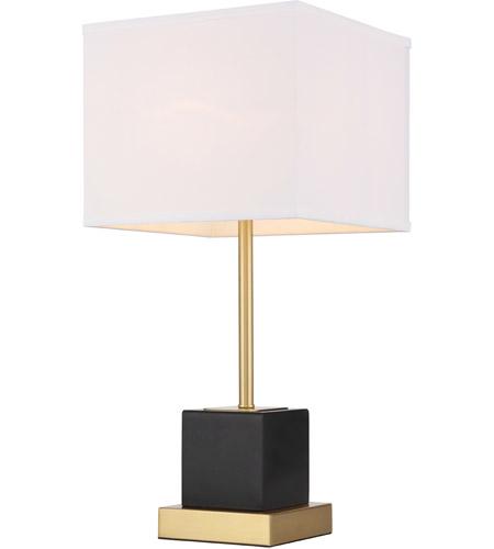Elegant Lighting Tl3037br Lana 25 Inch 40 Watt Brushed Br And Black Table Lamp Portable Light