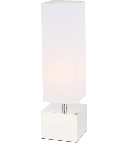 Elegant Lighting TL3049PN Niki 23 inch 40 watt Polished Nickel Table Lamp Portable Light alternative photo thumbnail