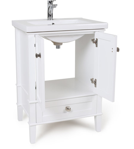 elegant lighting vf 2001 danville white bathroom vanity cabinet 24 in
