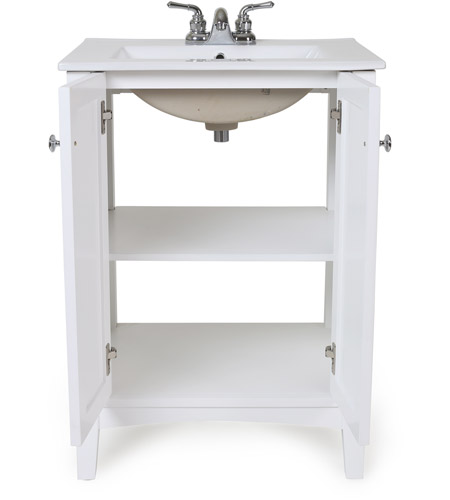 elegant lighting vf 2003 danville white bathroom vanity cabinet 24 in