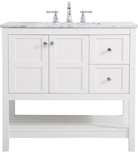 Elegant Lighting Vf16536wh Thalen 36 X 22 X 34 Inch White Vanity Sink Set