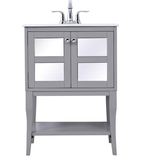 Elegant Lighting Vf2101mr Mason 24 X 19 X 33 Inch Grey Vanity Sink Set
