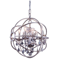 Geneva 4 Light 17 inch Polished Nickel Pendant Ceiling Light in Silver Shade