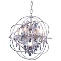 Urban Classic by Elegant Lighting Geneva 6 Light Pendant in Polished Nickel with Royal Cut Silver Shade Crystal 1130D25PN-SS/RC