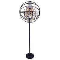 Geneva 72 inch 60 watt Dark Bronze Floor Lamp Portable Light in Golden Teak