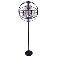 Geneva 72 inch 60 watt Dark Bronze Floor Lamp Portable Light in Clear