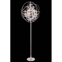 Urban Classic by Elegant Lighting Geneva 6 Light Floor Lamp in Polished Nickel with Royal Cut Clear Crystal 1130FL24PN/RC