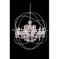 Elegant Lighting Urban 18 Light Pendant in Polished Nickel with Royal Cut Clear Crystal 1130G43PN/RC