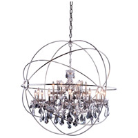 Urban Classic by Elegant Lighting Geneva 18 Light Pendant in Polished Nickel with Royal Cut Silver Shade Crystal 1130G43PN-SS/RC